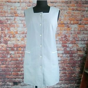 Vintage Tops - Sleeveless Button Down Vintage Tunic Top